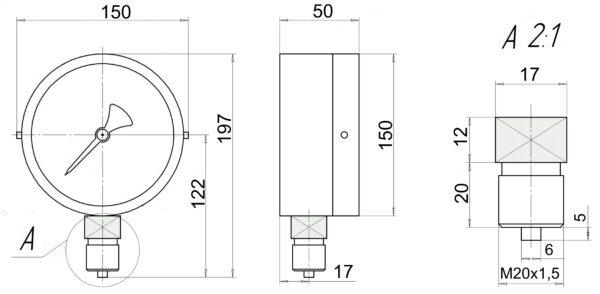 ВП4А-У2 чертеж