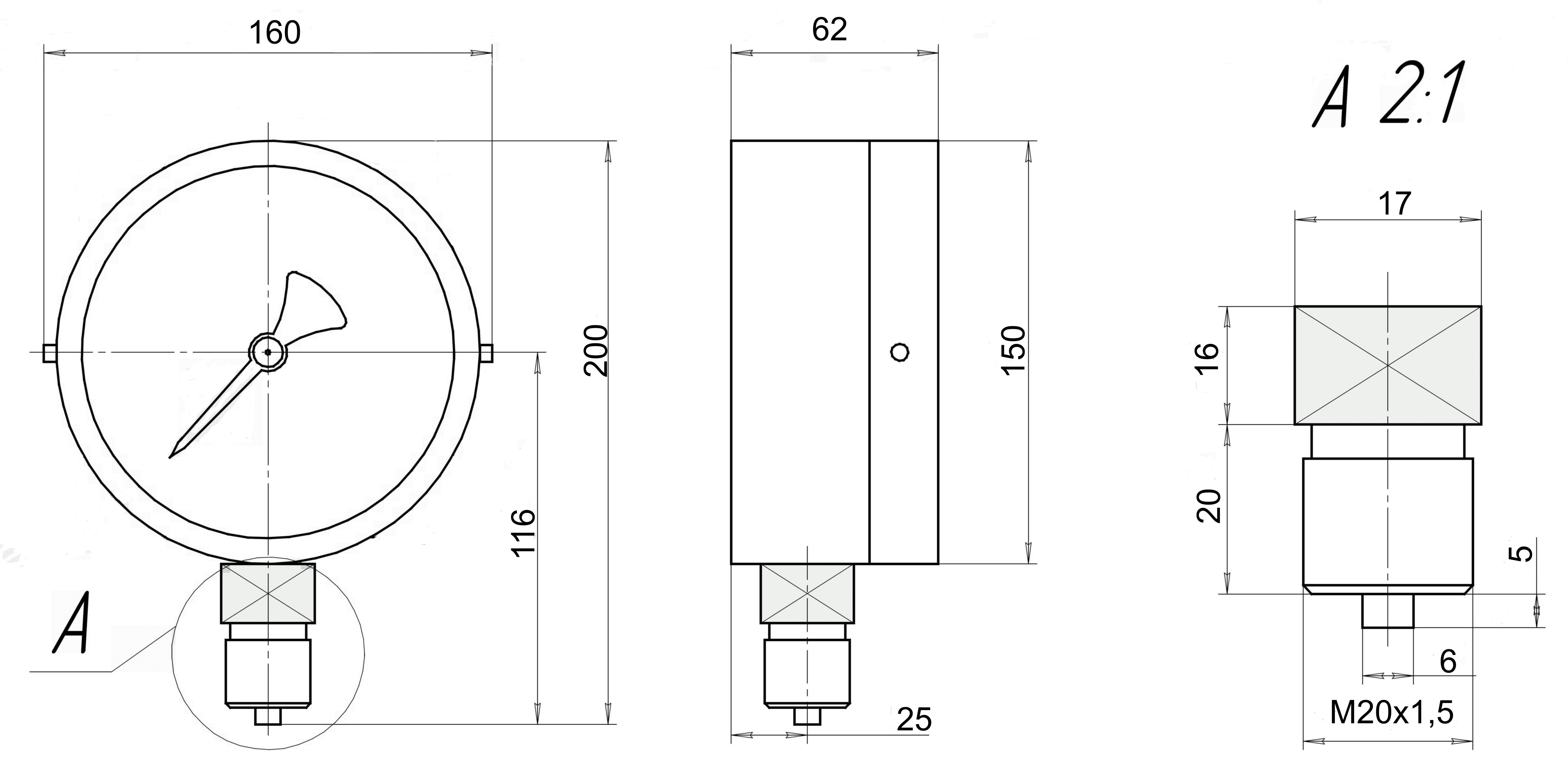 ДМ 8008-В-У2-Кс и2 чертеж