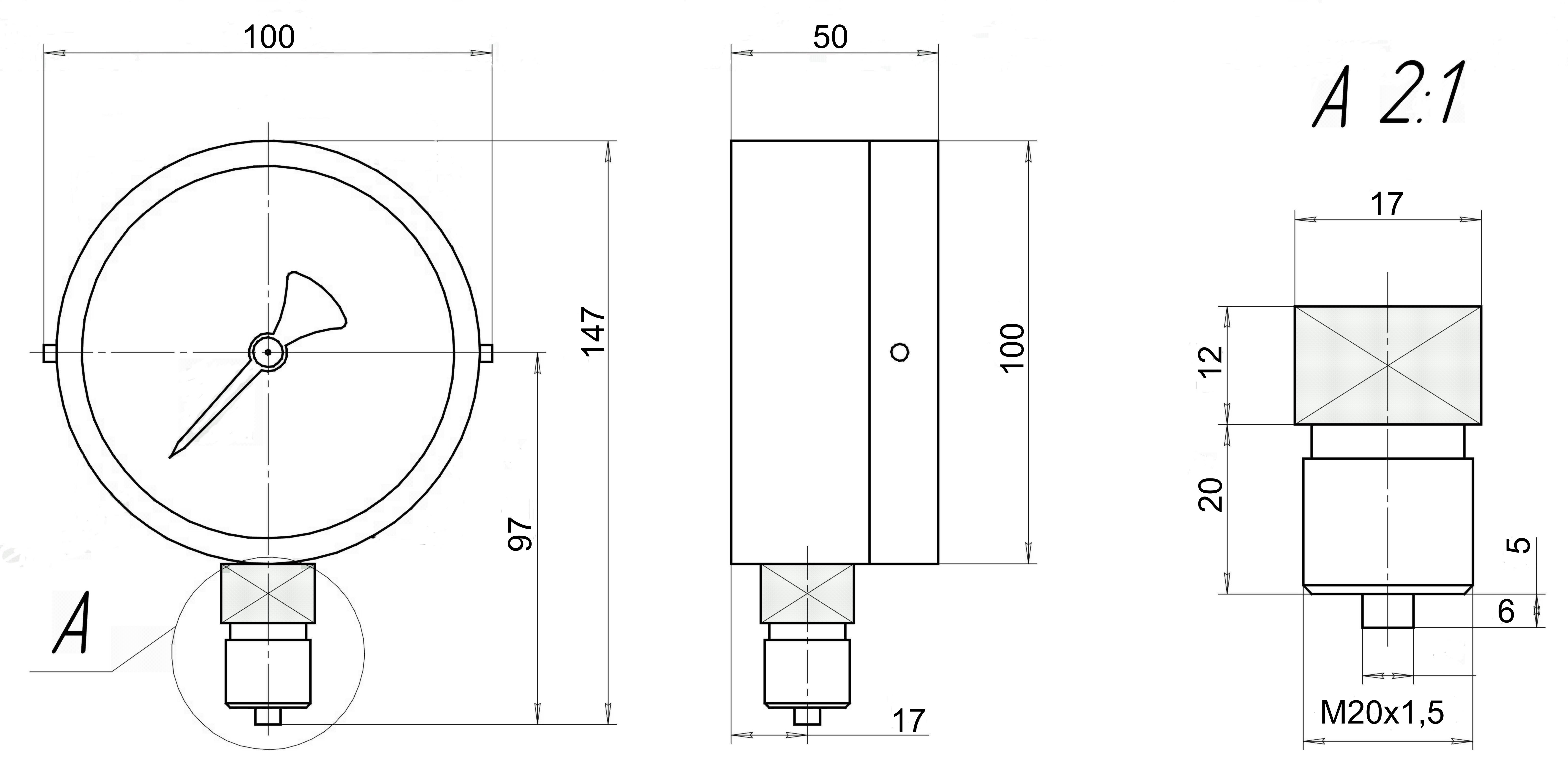 ДМ 8008-В-У2-Кс чертеж