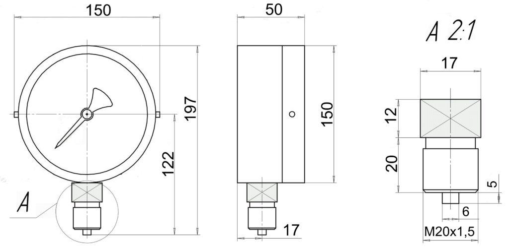 МВП4А-У2-Кс чертеж