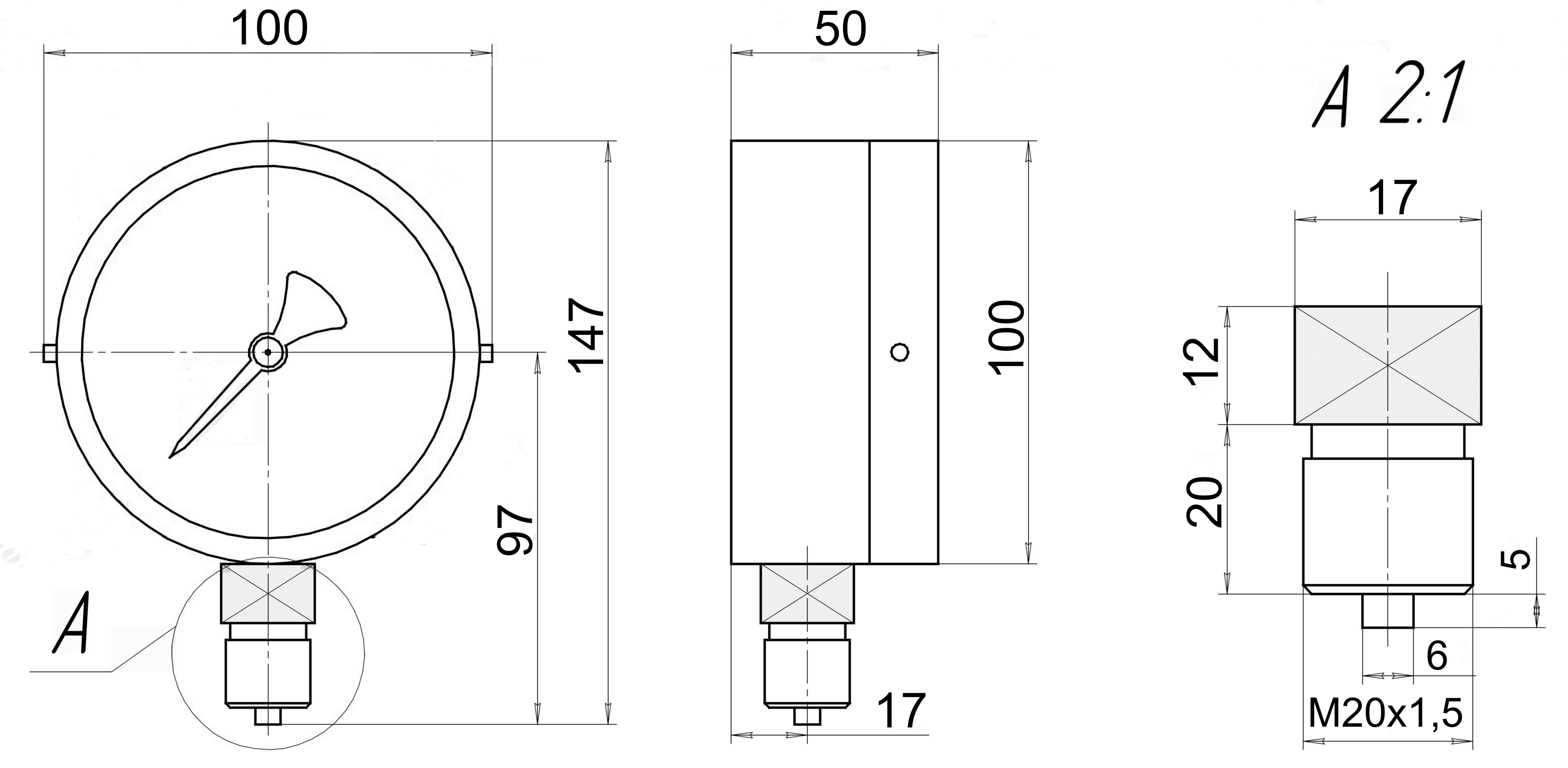 МП3А-У2 чертеж