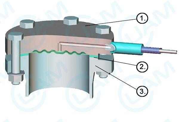 Фланцевая конструкция мембранного разделителя