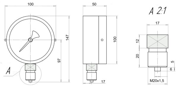 ДВ 8008-В-У2 чертеж